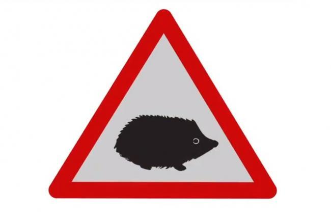 New hedgehog road sign to warn drivers of small wildlife hazards
