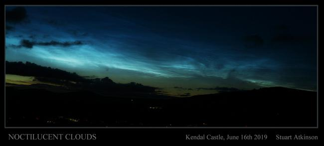 Noctilucent clouds at Kendal Castle on June 16, 2019. Picture: Stuart Atkinson