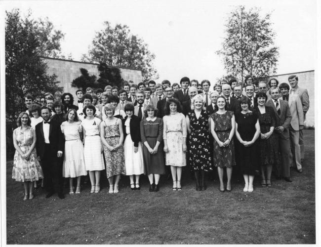 Students during Melanie's time at the college