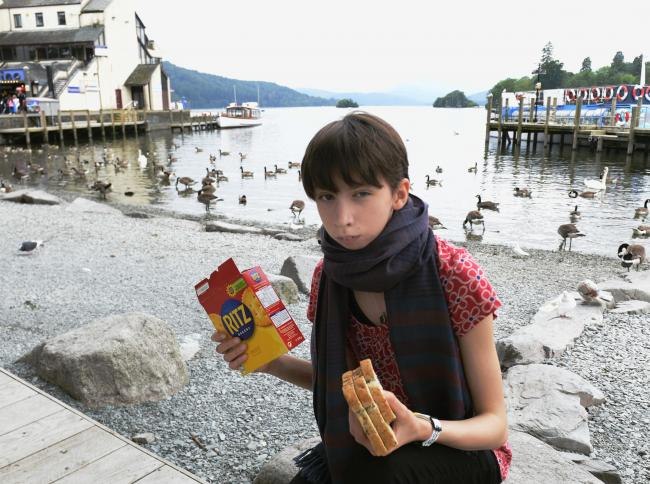 Sixteen-year-old Jos Arnold has been campaigning for two years without success to get signs put up at Bowness Bay telling people not to feed bread and junk food to the ducks (Gazette library picture)