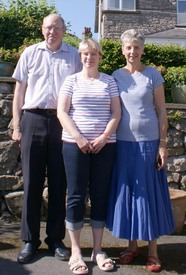 Trevor and Janet Hughes with their daughter Jennifer