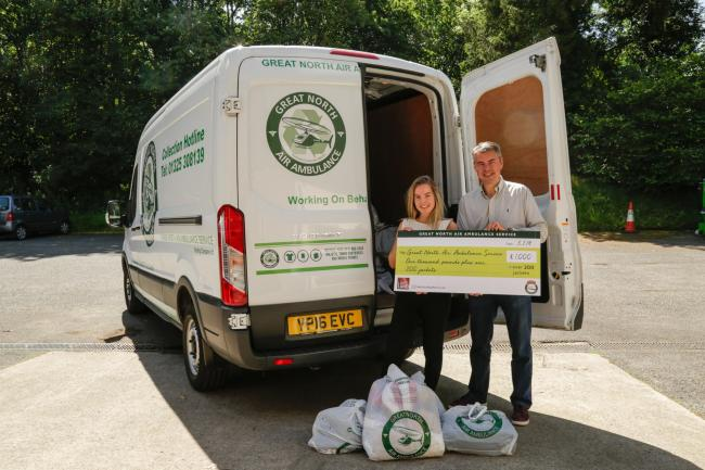 Recycling jackets raises thousands for air ambulance