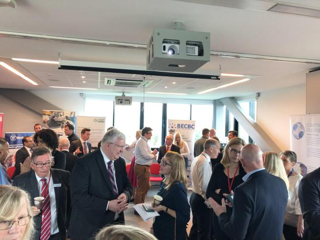 Attendees at a Britain's Energy Coast Business Cluster meeting with representatives from the Department for International Trade