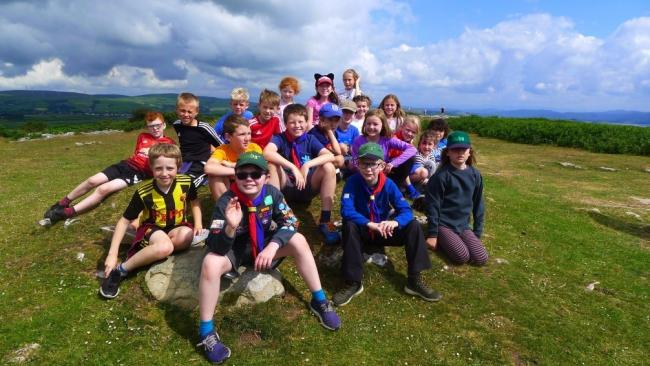 The Grange and Cartmel cubs during their weekend camp