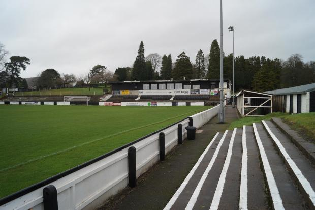 Kendal Town's Parksside Road ground.