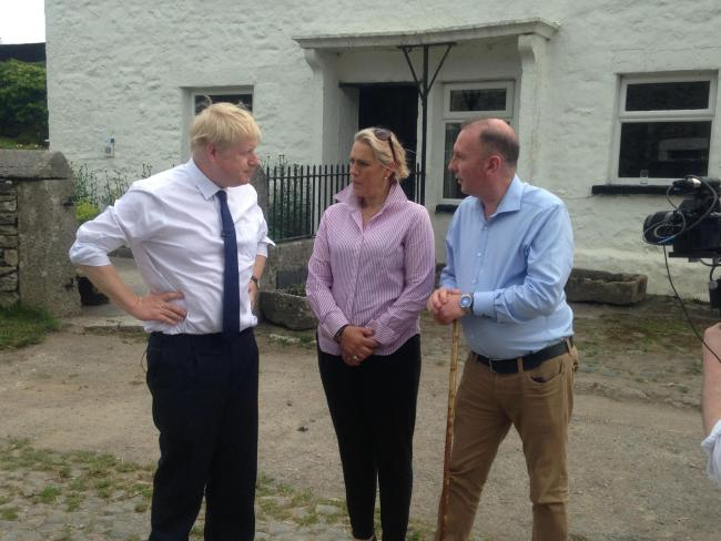Cllr James Airey and his wife Caroline meeting Boris Johnson in July 2019