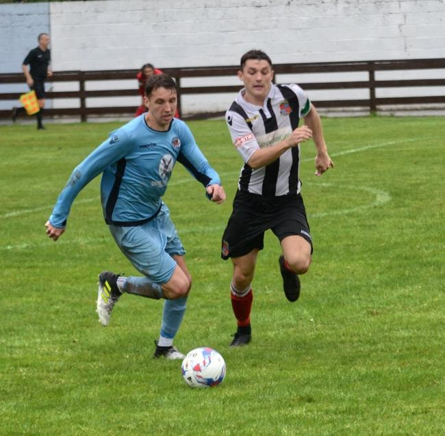 Action from Town's friendly at Carlisle City on Saturday. Pic: Chris Wrigley
