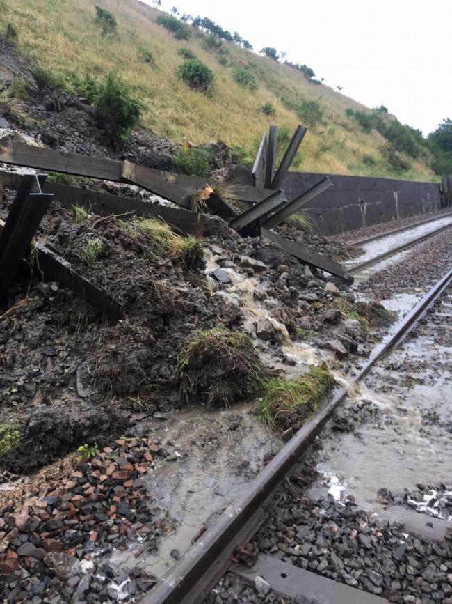 This landslip affected the Settle-Carlisle line (Picture by Network Rail)