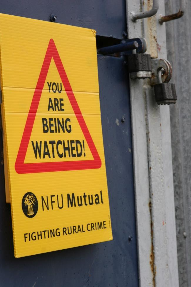 Security sign. Picture: NFU Mutual