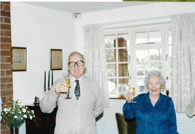 Joan and Jack Bare celebrating 80 years of marriage