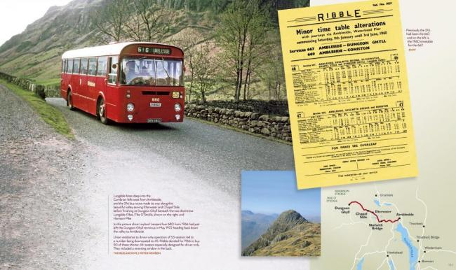 The 516 Dungeon Ghyll to Ambleside Ribble bus