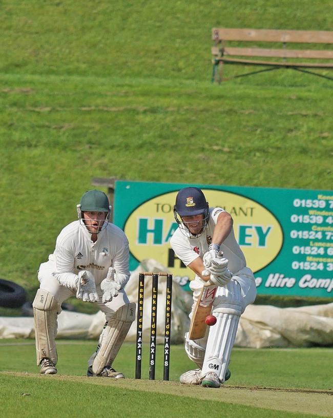 Josh Dixon keeps a straight bat against Fulwood & Broughton on Saturday. Pic: Richard Edmondson