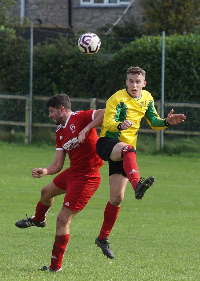 Action from the Westmorland League clash between Ibis Reserves anbd Greystoke