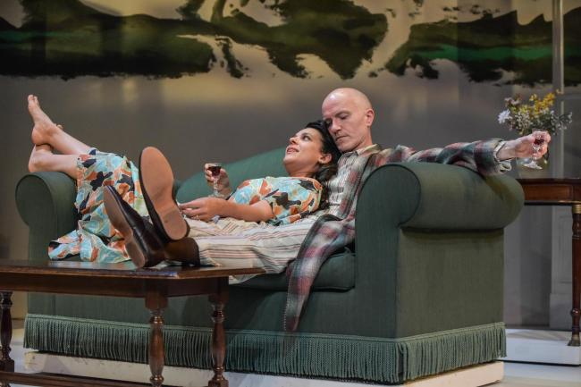 Asha Kingsley as Helena and Dominic Gately who plays Marcus in Dear Uncle, running at Theatre by the Lake. Picture: Robert Day
