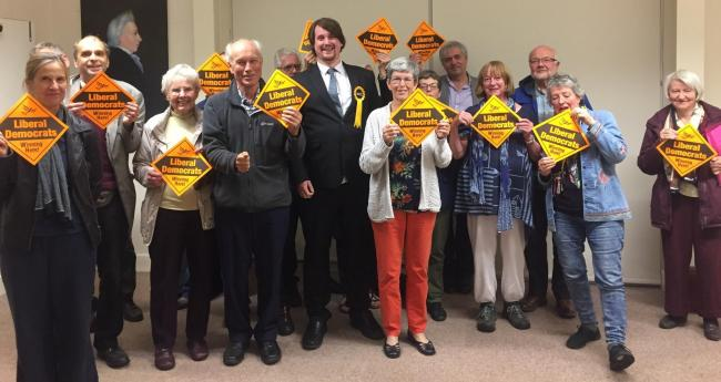 Matthew Severn alongside Liberal Democrat members