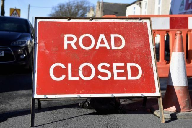 Road closure.