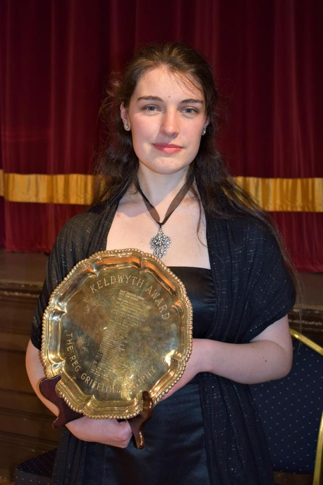 Twenty-year-old mezzo-soprano Rebecca Chandler won the hearts of adjudicators and audience alike with her winning performance in the Keldwyth Award final