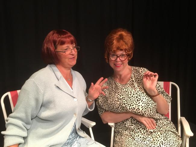 Picture from left, Clare Walker and Kate Vernon as Doris and Beryl in Day Trippers, one of four short plays staged by Staveley Roundhouse Theatre from September 24-27