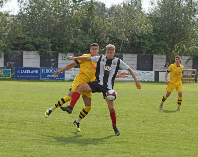 Emil Jaaskelainen, above, has extended his loan spell at Kendal Town.