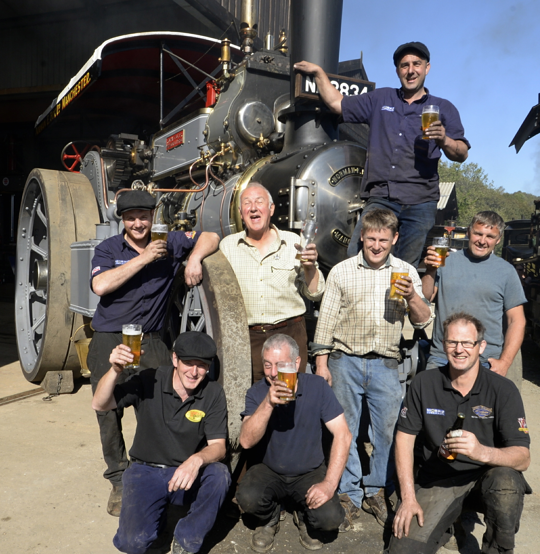 Steam engine is unveiled