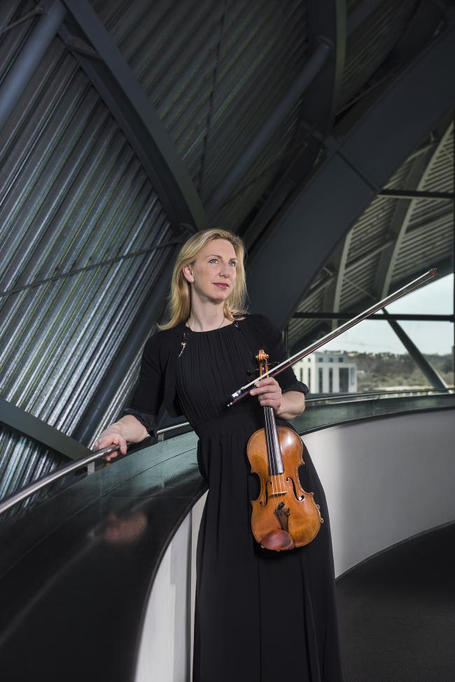 Royal Northern Sinfonia leader Kyra Humphreys played Philip Glass' The American Four Seasons superbly. Picture: Ben Hughes