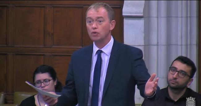 MP Tim Farron during the Commons pharmacy debate