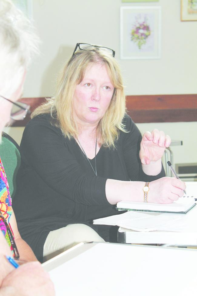 Cllr Dyan Jones at a climate change meeting