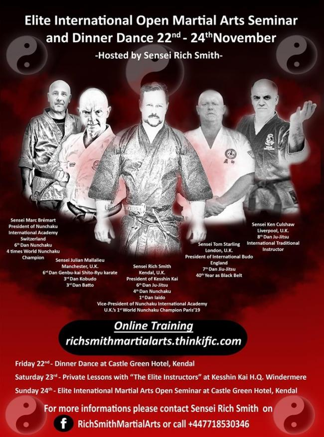 The martial arts experts who are coming to Kendal