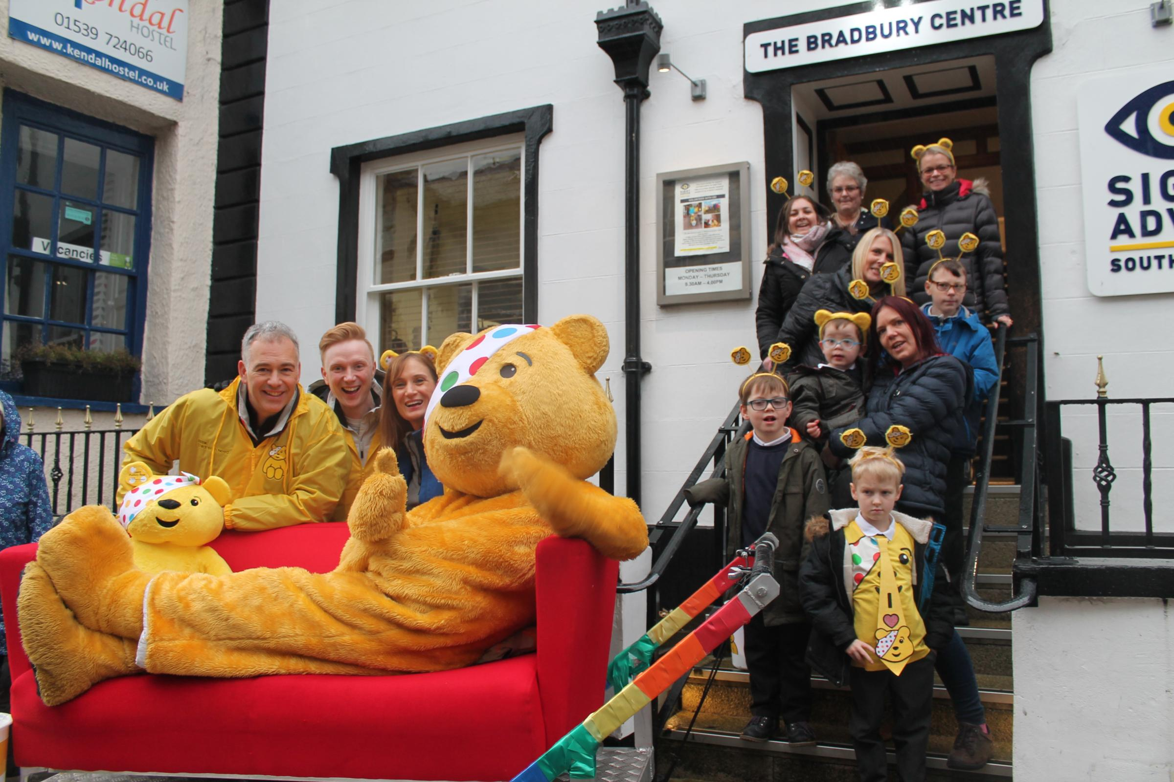 VIDEO: Pudsey and BBC North West come to Kendal for Children in Need challenge