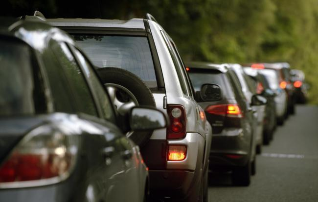 Slow traffic on A590 due to accident