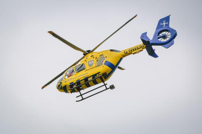 A North West Air Ambulance helicopter