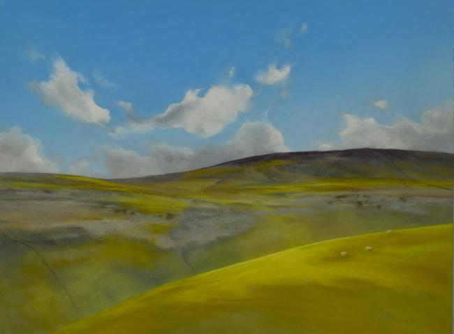 Kingsdale Royal Blue is one of the paintings in the Lucia Smith exhibition