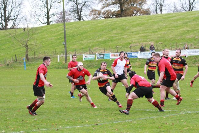 Kirkby Lonsdale on the attack against Blaydon. Pc: Mike Martindale