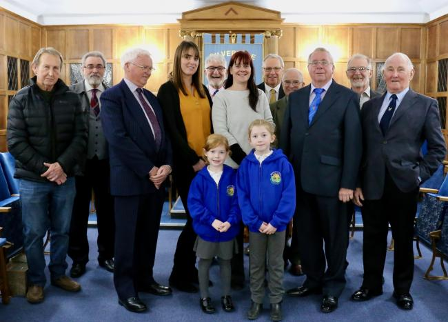 Freemasons have given £500 towards a new school roof in Silverdale (Picture: Brian Ferrington)