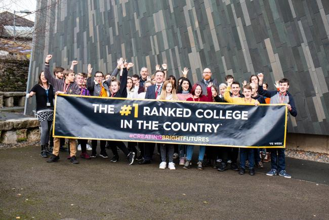 Kendal College staff and students celebrate their ranking