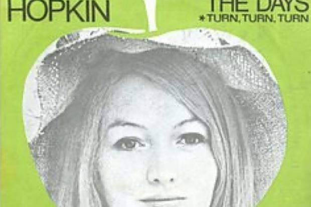 "Those Were The Days by Mary Hopkin, 45rpm 7"" single with limited edition picture sleeve on Apple Records, 1968, value £35"