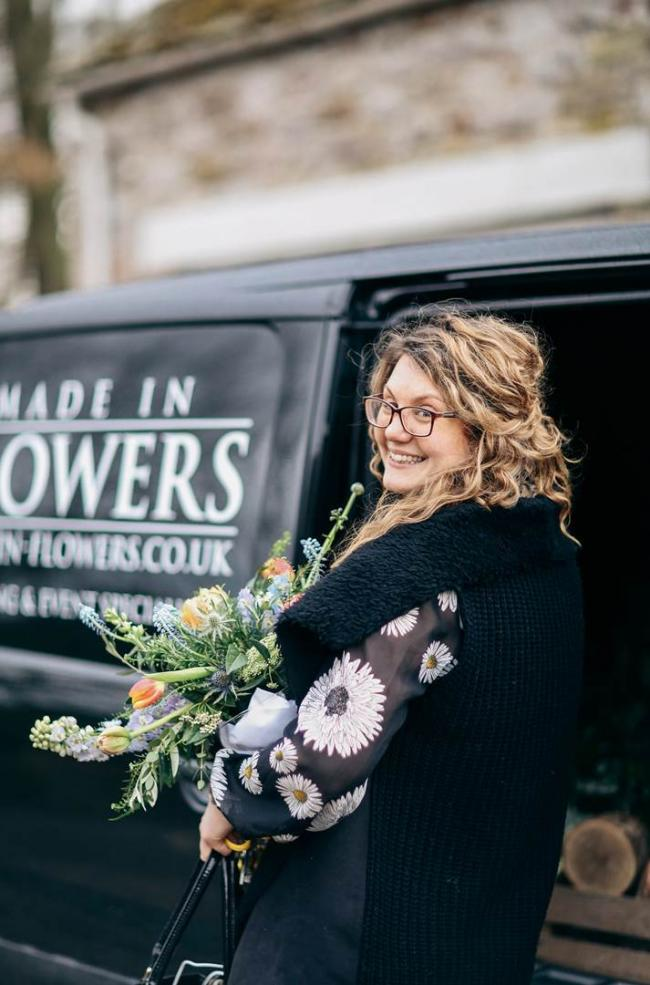 Katie Robinson, owner of Made in Flowers in Kendal