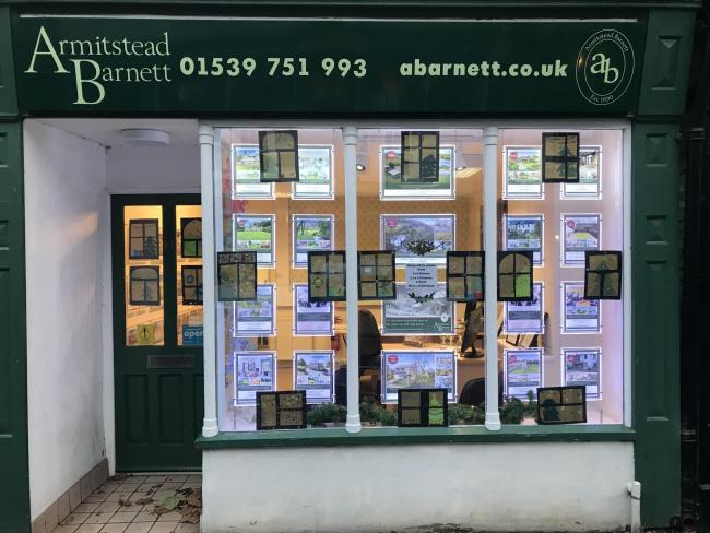 The Christmas window at Armitstead Barnett in Kendal