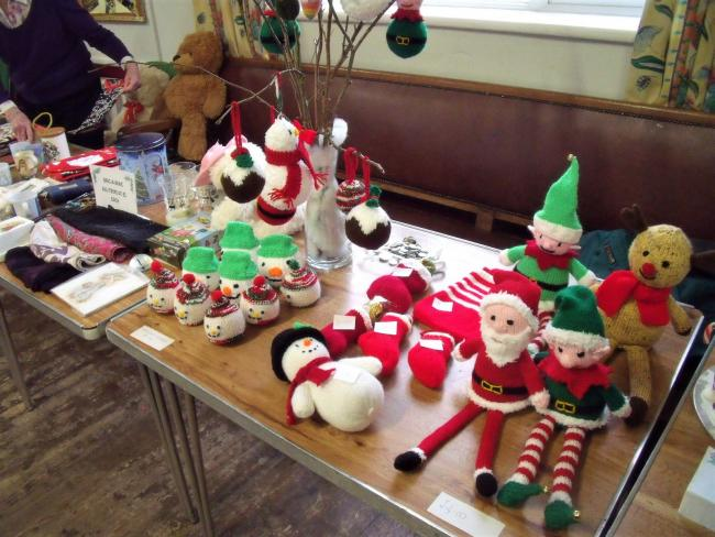 A stall at the Christmas fair