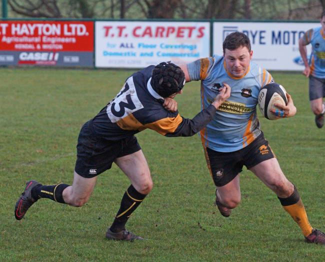 Action from the Kendal v Windermere social rugby clash. Pic: Richard Edmondson
