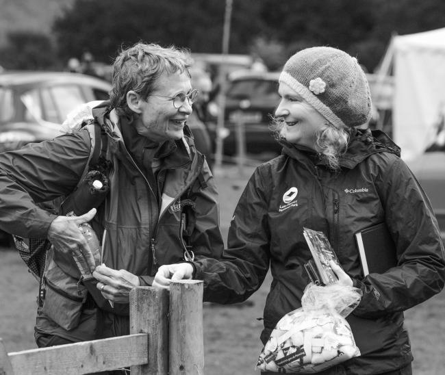 FARMING DIARY: Andrea Meanwell (right)