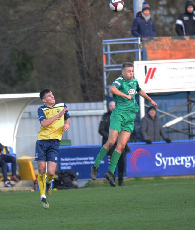 Emil Jaaskelainen,right, in action for Kendal at Tadcaster