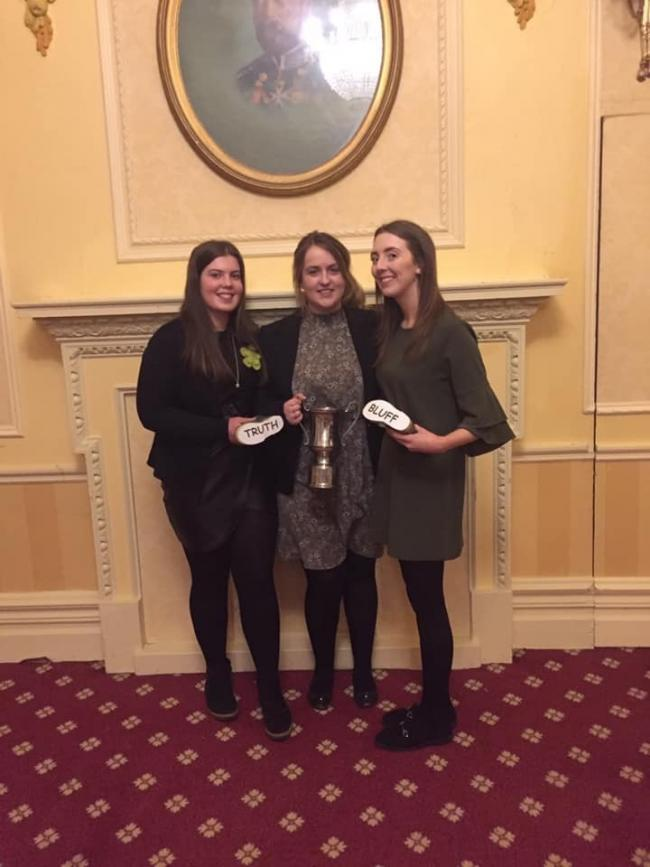 The winning team from Penrith YFC. Left to right: Rachel Lyall, Charlotte Wilson and Tamara Wilson