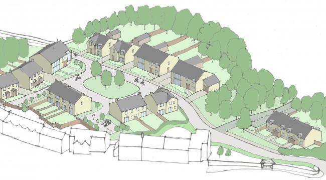 A sketch of the new homes planned for Warton village