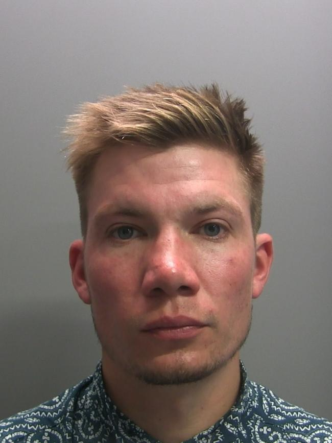 Jail sentence: Layton Jude, of Carleton Meadows, Penrith, was jailed for 32 months for supplying drugs. Picture: Cumbria police.