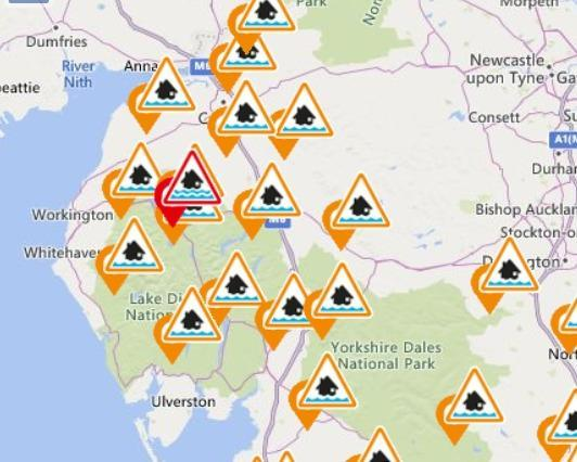 Weather update: Flood alerts in place as drivers face hazardous conditions