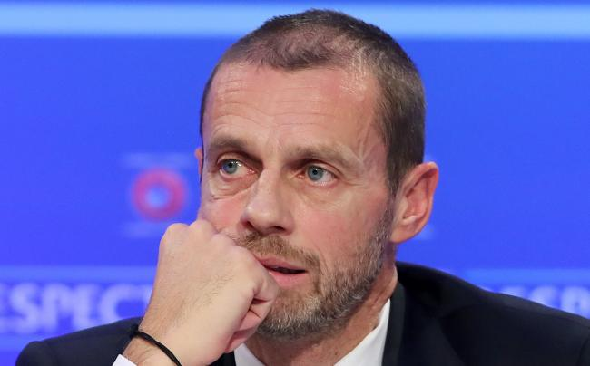 "File photo dated 03-12-2018 of UEFA President Aleksander Ceferin. PA Photo. Issue date: Wednesday March 18, 2020. European football remains united in the hope of finishing the season during the summer after the postponement of Euro 2020 came at ""huge"