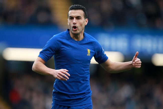 Chelsea star Pedro, pictured, is adjusting to time apart from his children, who are back in Spain during the coronavirus outbreak