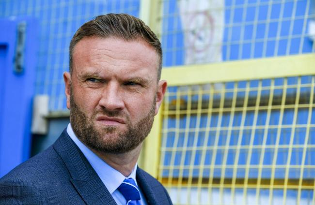BARROW AFC v Havant and Waterlooville. Ian Evatt celebrates his debut as the Barrow Manager with a win to take Barrow to the top.  4th AUGUST 2018. PICTURES by MILTON HAWORTH....