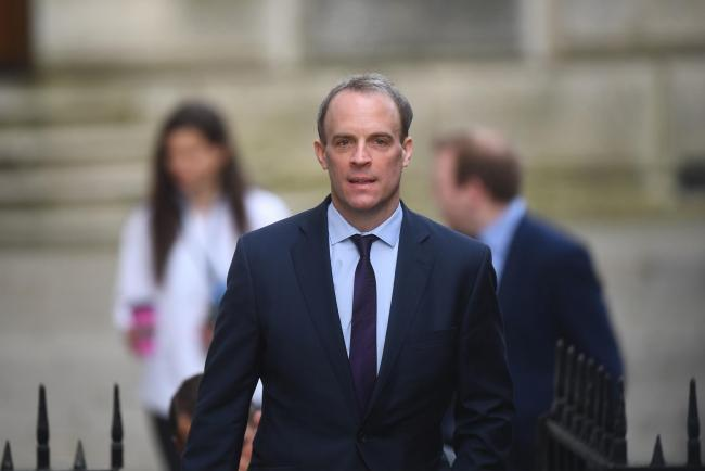 Foreign Secretary Dominic Raab, who is taking charge of the Government's response to the coronavirus crisis after Prime Minister Boris Johnson was admitted to intensive care on Monday